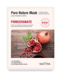 Anskin Secriss Pure Nature Mask Pack- Pomegranate Омолаживающая тканевая маска для лица с гранатом