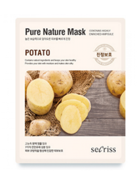Anskin Secriss Pure Nature Mask Pack-Potato  Тканевая маска для лица с экстрактом картофеля