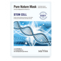 Омолаживающая тканевая маска для лица с стволовыми клетками Anskin Secriss Pure Nature Mask Pack- Steam Cell