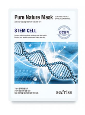 Anskin Secriss Pure Nature Mask Pack- Steam Cell Омолаживающая тканевая маска для лица с стволовыми клетками