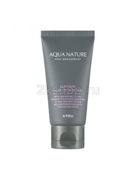 Маска- пленка от черных точек A'pieu Aqua Nature Blackhead Clean-Off Nose Pack