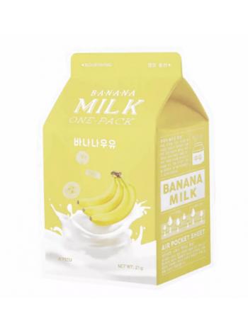 A'PIEU Banana Milk One-Pack Питательная тканевая маска с экстрактом банана
