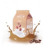 A'peiu Coffee Milk One-Pack Укрепляющая тканевая маска с экстрактом кофе и коллагеном