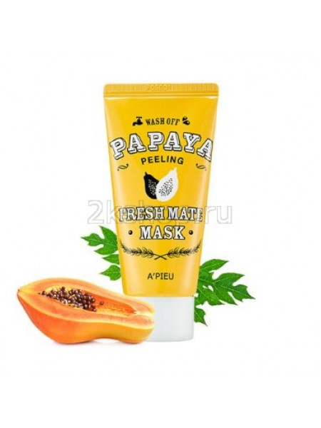 Маска-пилинг осветляющая очищающая с папайей A'pieu Fresh Mate Papaya Mask (Peeling)