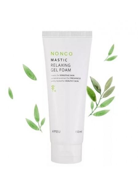 Пенка для умывания для чувствительной кожи  A'pieu Nonco Mastic Relaxing Gel Foam