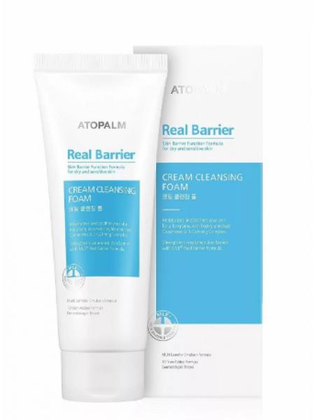Atopalm Real Barrier cream cleansing foam Кремовая очищающая пенка