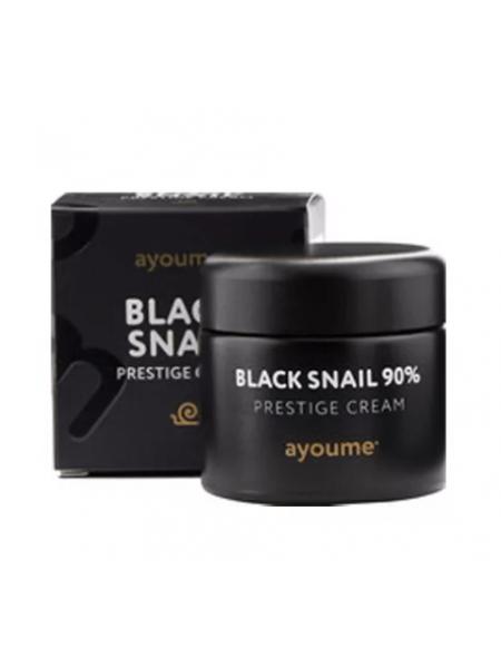 Крем для лица с муцином черной улитки AYOUME 90%  Black Snail Prestige Cream 70мл