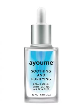 AYOUME Tea Tree Soothing-&-Purifying serum Успокаивающая сыворотка для лица с маслом чайного дерева