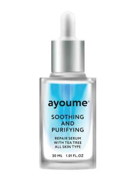 Успокаивающая сыворотка для лица с маслом чайного дерева  AYOUME  Tea Tree Soothing-&-Purifying serum
