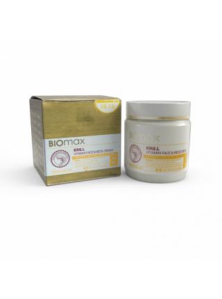 Biomax Витаминный крем для лица и шеи с крилевым маслом