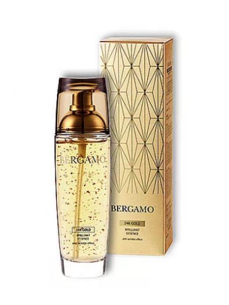 Антивозрастная сыворотка с золотом 110 мл.  Bergamo 24K Gold Brillliant Essence