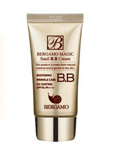 ББ крем с улиткой  Bergamo Magic Snail BB Cream SPF 50/PA+++