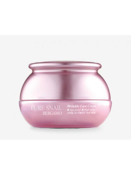Bergamo Pure Snail Wrinkle Care Cream Антивозрастной улиточный крем для лица