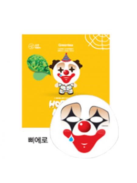Berrisom Horror mask series Pierrot Маска тканевая с экстрактом зеленого чая
