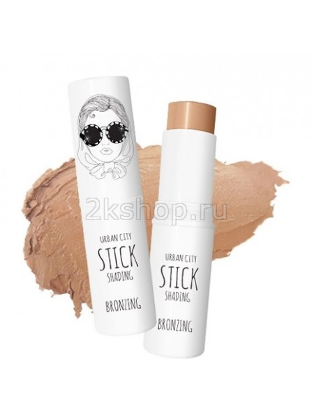 Baviphat Urban City Stick Shading Bronzing Стик-шейдинг для лица Бронза