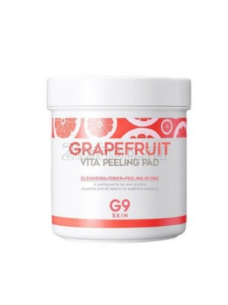 Berrisom G9 Grapefruit Vita Peeling Pad Ватные диски c экстрактом грейпфрута для пилинга