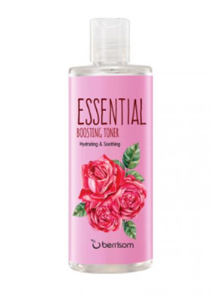 Увлажняющий тонер для лица с экстрактом розы Berrisom Essential Boosting Toner Rose