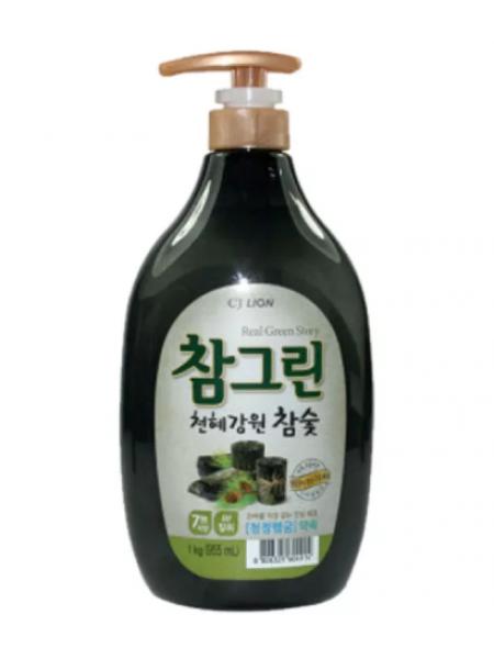 CJ Lion Chamgreen Средство для мытья посуды, овощей и фруктов Древесный уголь