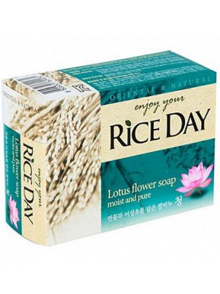 CJ Lion Rice Day Mыло туалетное с экстрактом Лотоса и Хауттюнией
