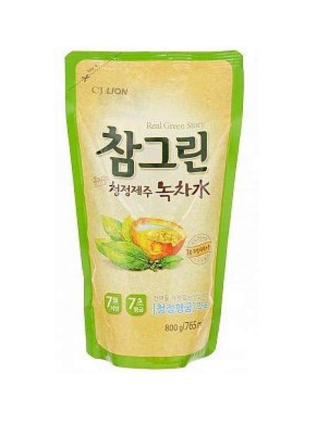 CJ Lion Chamgreen Средство для мытья посуды, овощей и фруктов Зеленый чай