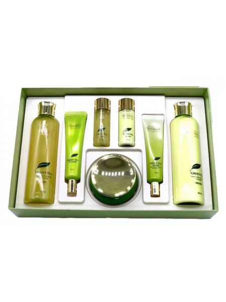 "Deoproce Premium Green Tea Total Solution Skin Care 5 Set Набор для ухода за кожей лица ""Зеленый чай"""