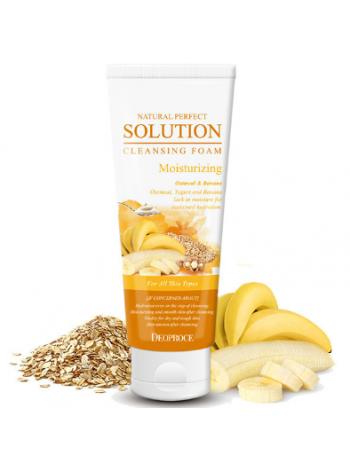 Пенка для умывания овсянка банан Deoproce Natural perfect solution cleansing foam moisturizing