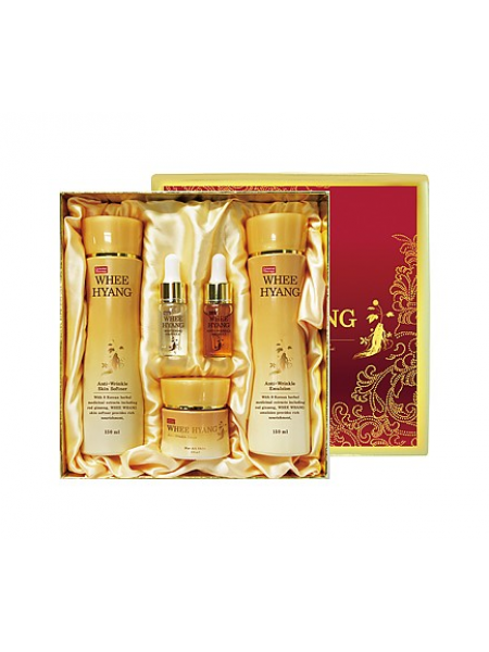 Deoproce Whee Hyang Anti-wrinkle and Whitening Skin Care 5 Set Антивозрастной набор косметики с женьшенем