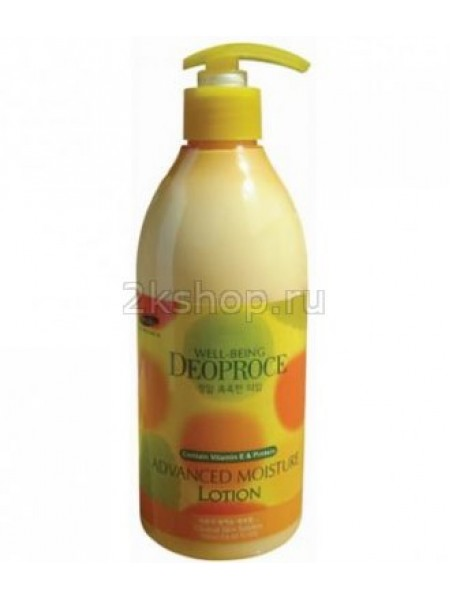 Deoproce Well-Being Body & Face Advanced Moisture Lotion 500ml Лосьон для тела увлажняющий