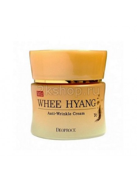 Deoproce Whee Hyang Whitening Anti-Wrinkle Cream Антивозрастной крем для лица с женьшенем