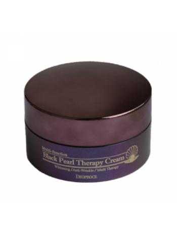 Deoproce Black Pearl Therapy Cream Антивозрастной крем для лица с черным жемчугом