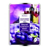 Deoproce Color Synergy Effect Sheet mask Purple Маска тканевая на основе черники и красного винограда