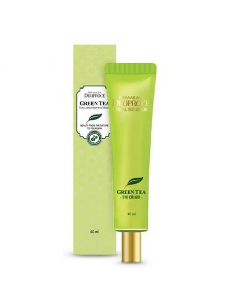 Увлажняющий крем для век с экстрактом зеленого чая Deoproce Premium Greentea Total Solution Eye Cream