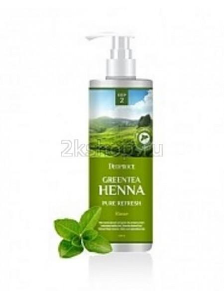 Deoproce Rinse - greentea henna pure refresh  Бальзам для волос с зелёным чаем и хной