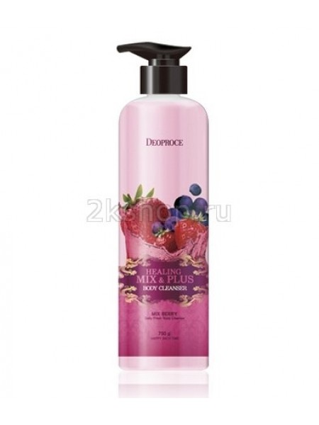 Deoproce Healing Mix & Plus Body Cleanser Mix Berry Гель для душа Ягодный микс
