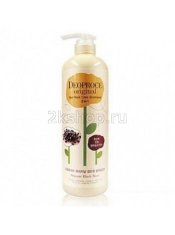 Deoproce Original hair root care 2 in 1 shampoo black bean Шампунь-бальзам 2 в 1 бобы
