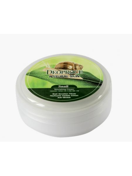 Питательный крем для лица и тела с улиткой Deoproce Natural Skin Snail Nourishing Cream