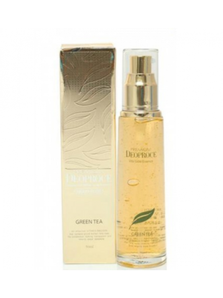 Deoproce Premium Vita Gold Essence  Эссенция для лица увлажняющая  с зеленым чаем