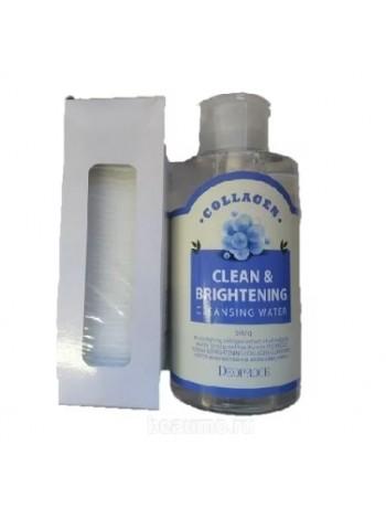 Deoproce Очищающая вода с коллагеном Clean & Brightening Collagen Cleansing Water