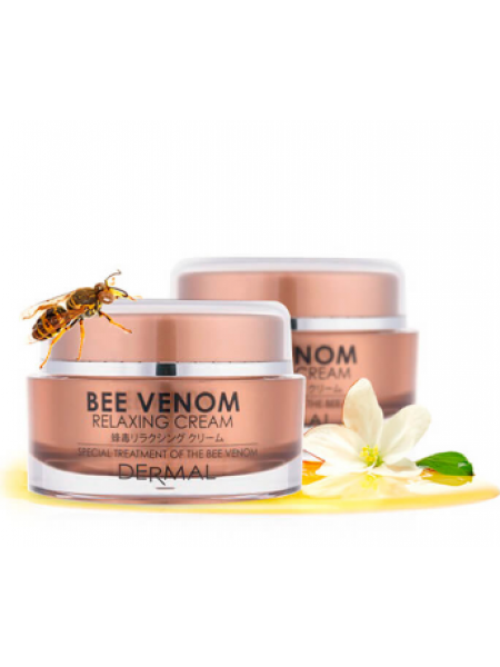 Dermal Bee Venom Relaxing Cream Крем для лица с коллагеном и пчелиным ядом