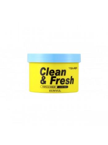 EUNYUL Clean & Fresh Pimple & Sebum Clear Pad Отшелушивающие диски для обновления кожи