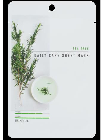 EUNYUL Tea Tree Daily Care Sheet Mask Тканевая маска для лица с экстрактом чайного дерева