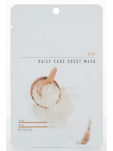 EUNYUL Rice Daily Care Sheet Mask Тканевая маска для лица с экстрактом риса