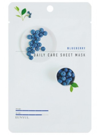 EUNYUL Blueberry Daily Care Sheet Mask Тканевая маска для лица с экстрактом черники