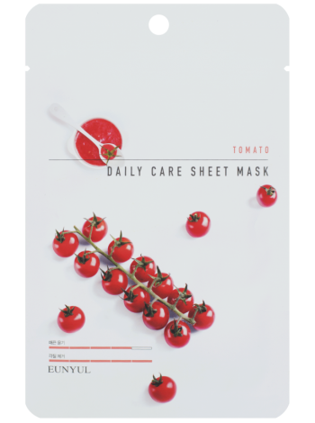 EUNYUL Tomato Daily Care Sheet Mask Тканевая маска для лица с экстрактом томата