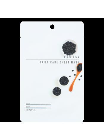 EUNYUL Black Bean Daily Care Sheet Mask Тканевая маска для лица с экстрактом черных бобов