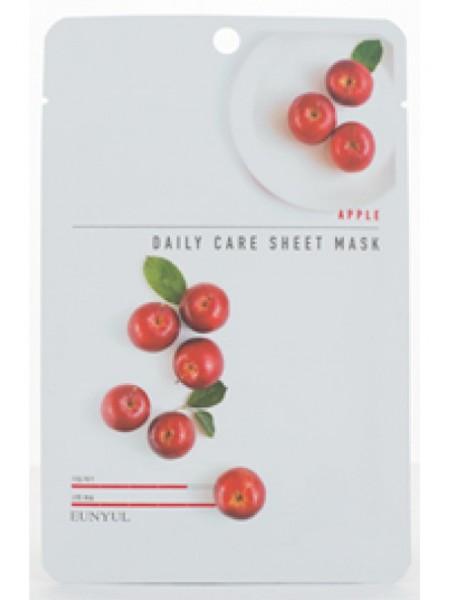 EUNYUL Apple Daily Care Sheet Mask Тканевая маска для лица с экстрактом яблока