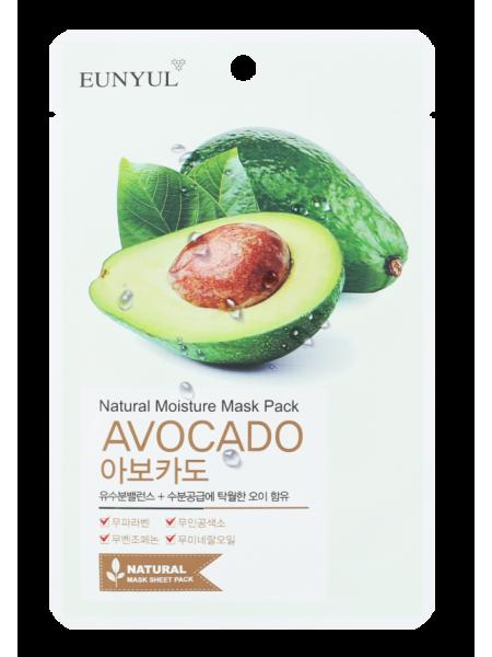 EUNYUL Natural Mosture Mask Pack Avocado Маска тканевая с экстрактом авокадо