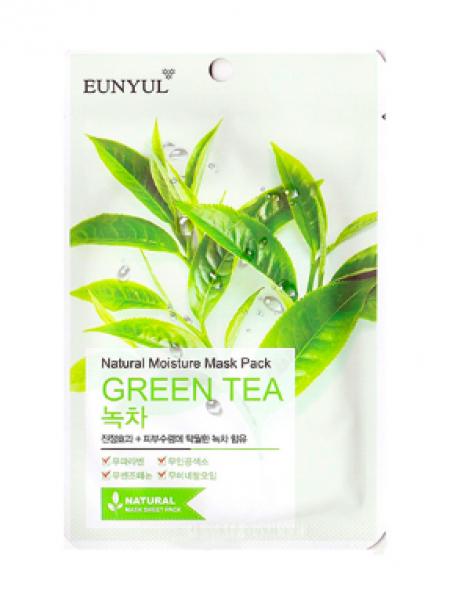 EUNYUL Natural Moisture Mask Pack Green Tea Тканевая увлажняющая маска с зеленым чаем