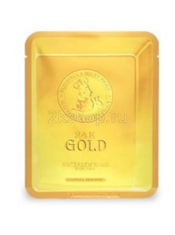 Улиточная маска для лица Elizavecca 24k Gold Water Dew Snail
