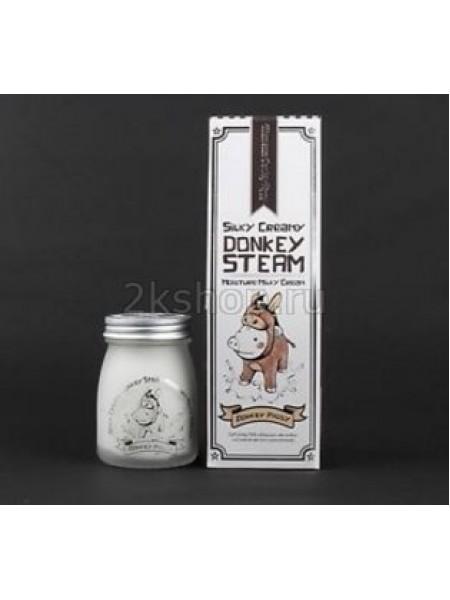 Elizavecca Silky Creamy Donkey Steam Moisture Milky Cream Крем для кожи молочный увлажняющий